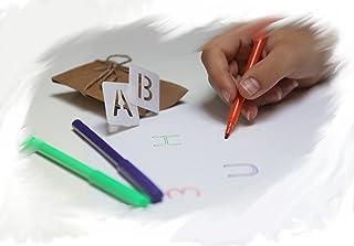 Pochoirs/stencil lettres alphabet chiffres - 36 pièces lavables réutilisables - police majuscule loisirs créatifs et scrap...