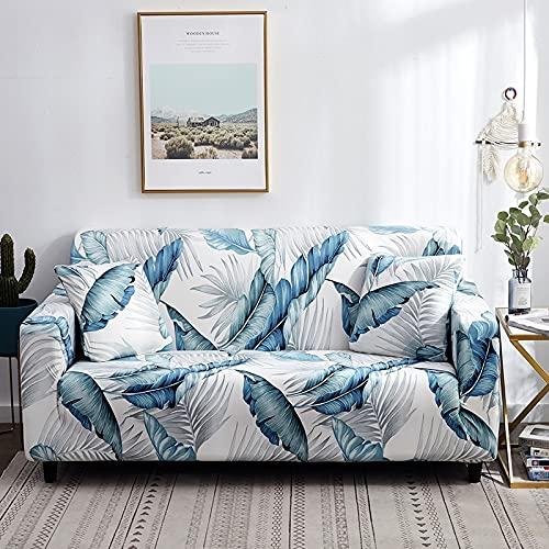 WXQY Funda de sofá elástica con Estampado Floral para Sala de Estar, sofá Antideslizante, Toalla, Funda de sofá, Funda para Muebles modulares, Funda para sofá A17, 3 plazas