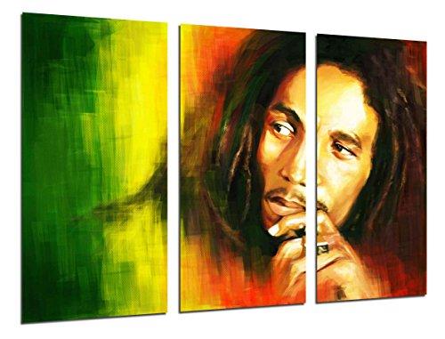 Cuadros Camara Poster Fotográfico Bob Marley, Musica Reaggie, Leyendas Tamaño total: 97 x 62 cm XXL, Multicolor