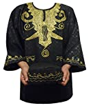 Decoraapparel African Men Shirt Dashiki Slim fit Traditional Top Plus Size Long Brocade Blouse (One Size,...