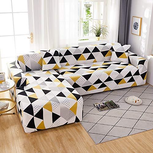 WXQY Funda de sofá elástica geométrica elástica Funda de sofá, Funda de sofá Todo Incluido en Forma de L, para Fundas de sofá de Diferentes Formas A24 1 Plaza