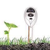 Vegena 3 en 1 Medidor de pH de Suelo, Medidor de Humedad del Suelo Medidor de Humedad Luz pH del Suelo para Jardín Granja Césped, NO Requiere Pilas