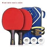 SSHHI 3-Sterne-Tischtennisschläger, 5-lagiges Massivholz, offensiver Tischtennisschläger/Wie gezeigt/C