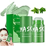 2 Pcs Green Tea Purifying Clay Face Mask Moisturizing Oil Control Shrink Pores Remove Anti-Acne Solid Mask Facial Care Deep Cleaning Mud Mask