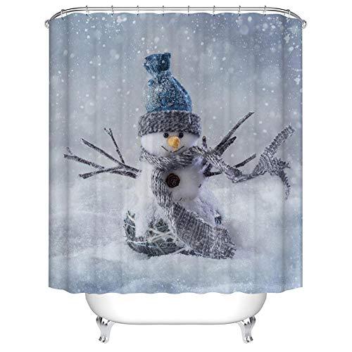 Boyouth Duschvorhang für Badezimmer, verschiedene Designs, wasserdicht, Polyester, mit 12 Kunststoffhaken Modern 70