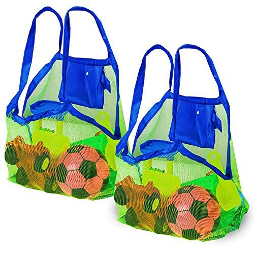 Bramble Set de 2 Bolsas de Malla para la Playa Juguetes de niños/Toallas etc - Ideal para Piscina - Bolsas Increíbles para Verano
