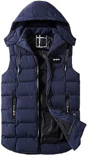 LISTHA Hooded Thick Vest Mens Warm Sleeveless Jacket Gilet Coat Body Warmer