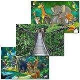 GREAT ART Lot de 3 Affiches XXL Motifs Enfants – Jungle Adventure – Explorer...