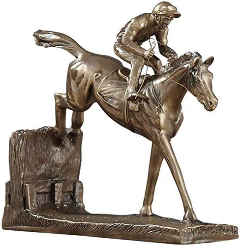 WQQLQX Statue Jockey und Pferd Statue Statue Heimdekoration Zubehör Gewölbe Pferd Statuette Bronze Skulptur Desktop Art Dekoration Handicraft Statuette Skulpturen (Size : A)