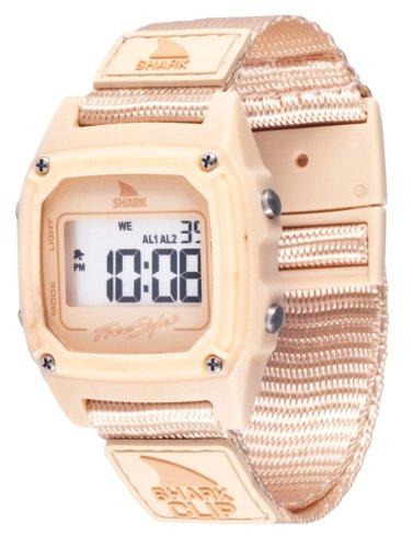 Freestyle Shark Classic FS84977 - Reloj Digital de Cuarzo para Mujer, Correa de Nailon Color Beige (Alarma, Registro de Vueltas, luz, cronómetro)