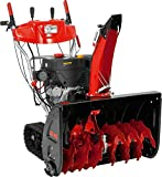 AL-KO Benzinschneefräse 760 TE Snowline (9.0 kW, 420 ccm, 76 cm Räumbreite, Einzugshöhe 54,5 cm, integrierter Scheinwerfer, beheizbare Griffe, Seilzug/elektrisch 230 V, drehbarer Auswurfschacht, Radantrieb mit 6 Vorwärts- und 2 Rückwärtsgängen, Raupenlaufwerk)