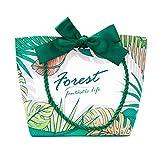 JYSXAD Bolsa de Regalo pequeña, Bolsa de Regalo de Papel Verde de la Serie Dream Forest Reutilizable, Adecuada para cosméticos como lápiz Labial, Sombra de Ojos en Polvo, etc.