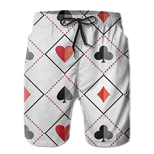 ZQHRS Pantalones Cortos de póker para Hombre Pantalones Cortos de Tablero no...