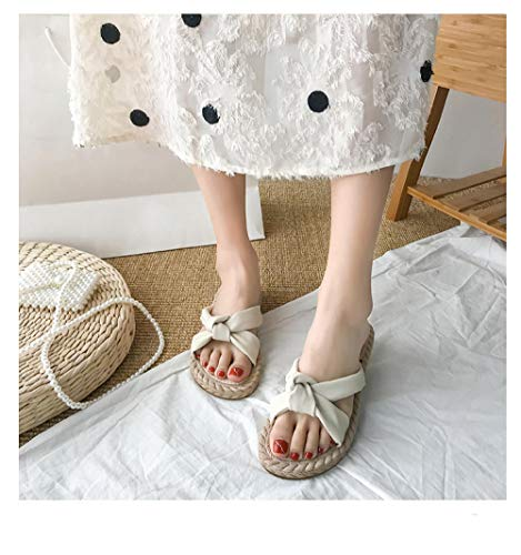 Anlemi Zapatos de Playa Piscina Unisex Adulto,Las Mujeres Usan Sandalias y Zapatillas de Moda,Zapatos de Playa de Moda de Verano-Beige_35,Ultraligero cómodo y Antideslizante