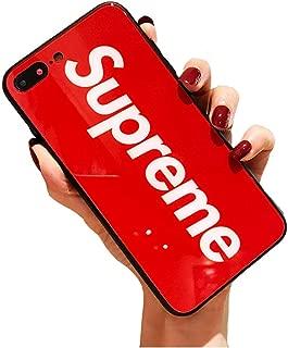 iPhone 8 Plus Case, iPhone 7 Plus Case, Street Fashion Tempered Glass Back Cover Soft Anti-Scratch TPU Case For iPhone 8 Plus / 7 Plus