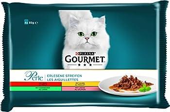 PURINA GOURMET Perle Lot de 12 Paquets de 4 sachets de 85 g de Nourriture Humide pour Chat