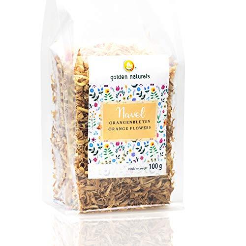 Getrocknete Orangen Blüten 100 g | essbar | dekorativ | Naturkosmetik | Golden Peanut