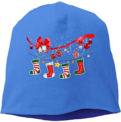 Skull Cap Solid Hedging Cap Stirnband Weihnachten Socken Unisex Beanie Hats Black