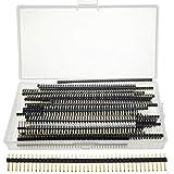 XianzhanEU 80 unidades de 2,54 mm 40 pines, recto, una sola fila, para ordenador y tablero, color dorado, con caja