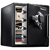 SENTRY (セントリー) 1時間耐火・耐水金庫 33.6L A4ファイル テンキー式 ダブルロック 鍵2本付き ブラック 2年保証 JFW123GEL
