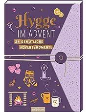 Hygge im Advent - 24 gemütliche Adventsmomente: Adventskalender Aufschneidebuch mit Wickelknopf