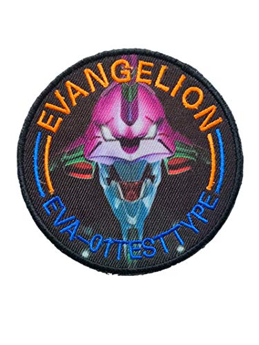 Japan Anime Evangelion Patch Military Hook Tactics Morale Embroidered Patch EVA-01 Test Type