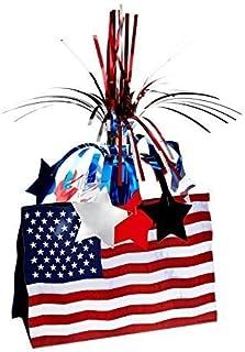 Patriotic American Flag Centerpiece 13 In., Pkg/3