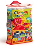 clementoni 14880 - clemmy plus mattoncini, sacca 60 pezzi