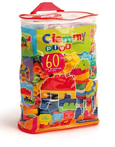 Clementoni- Clemmy Plus Mattoncini, Multicolore, 60 pezzi, 14880