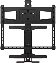 Monoprice Above Fireplace Pull-Down Full-Motion Articulating TV Wall Mount Bracket - for TVs 40in to 63in Max Weight 70.5lbs VESA Patterns Up to 600x400 Rotating Height Adjustable