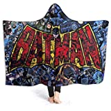 Bedais Wearable Hooded Blanket Soft Cloak Shawl Wrap Hoodie Throw Blanket for Kids and Adult