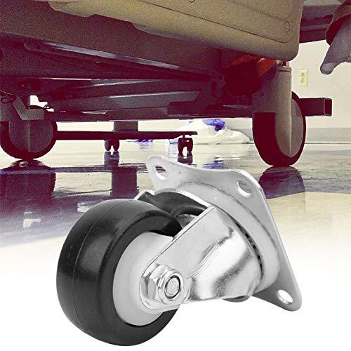 FOLOSAFENAR Rodamiento 6001ZZ, Carro Ool Asiento de fijación de 4 Orificios con Rodillo de Material de TPU y rodamiento 6001ZZ de precisión para Ruedas de Barril de Textiles y carros de Herramientas,