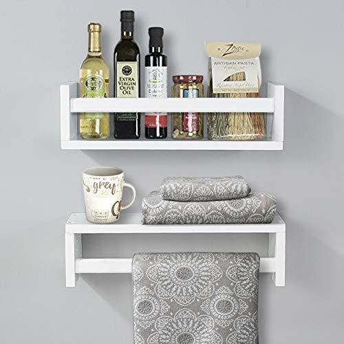 AHDECOR Juego de 2 estanterías de pared para habitación de los niños, estantes flotantes, decoración para especias/libros/habitación de los niños/cocina/baño, etc.