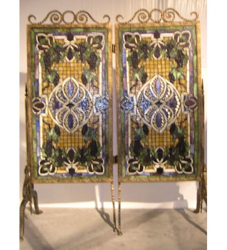 Great Price! Meyda Tiffany 67676 Tiffany/Mica Room Divider from Grapevine Collection in Antique Fini...