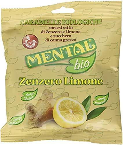 Mental Bio Zenzero e Limone Caramelle Biologiche Busta da 1kg