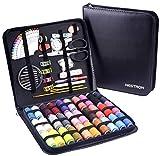 Nähset mit XXL-Größe PU-Koffer,Nahset über 100 Zubehörteile und 30 XL PVC-Garnrollen,Sewing Kit...