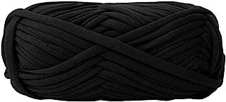 preliked Hand-Knit Woven Thread Thick Basket Blanket Braided DIY Crochet Cloth Fancy Yarn Black