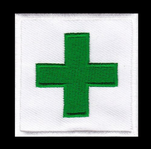 Parche plancha de planchar Iron on patches applikation First Aid Cruz Verde Enfermeras