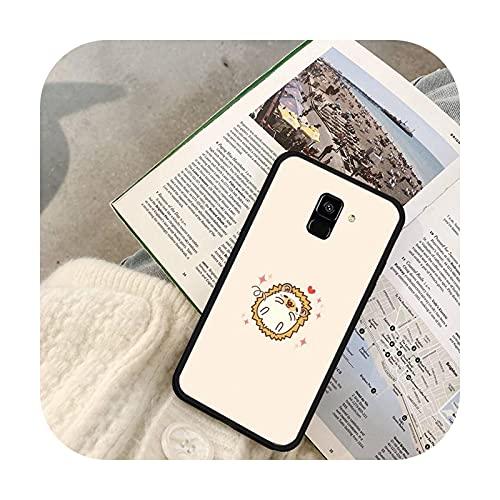 Lindo animal erizo teléfono caso para Galaxy J2 Prime J4 Plus J5 Prime J6 J7 Nota 5 7 8 9 10-a4-para Galaxy Note 7