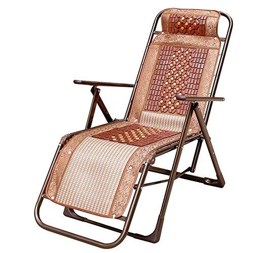 YNN Simple Bureau inclinables Chaise Pliante Pause déjeuner ménage Siesta lit Vieille Chaise Chaise de Couchage d'été (Couleur : A)