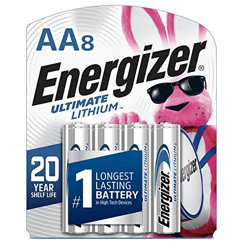 Energizer AA Baterías de Litio, Batería Doble A de Larga Duración del Mundo, Último Litio (2 Baterías)