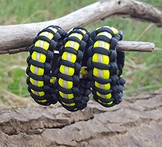 Firefighter Bunker Gear Paracord Bracelet - Black
