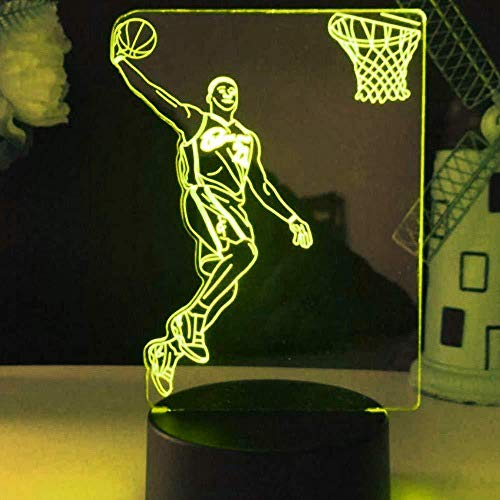 HJW-CD 3D Basketball Player Licht Lampe 7 Farbwechsel LED Touch USB Tisch Geschenk Kinder Spielzeug Dekor Dekorationen Weihnachten Geburtstagsgeschenk