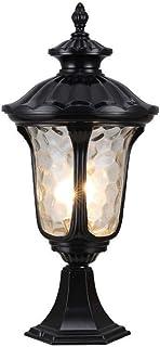 SEESEE.U Column Headlight Outdoor Villa Pillar Light European Gate Home Wall Lamp Garden Lamp E27 Decorative Lighting Alum...
