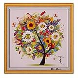 Oulensy 1x Multicolor Contado Pinturas de Punto de Cruz de Árbol Patrones de Punto de Cruz Bordado de la Costura del hogar del Cuadro de la decoración
