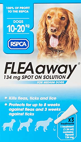 RSPCA FleaAway Spot On Solution for Medium Dogs, 134 mg
