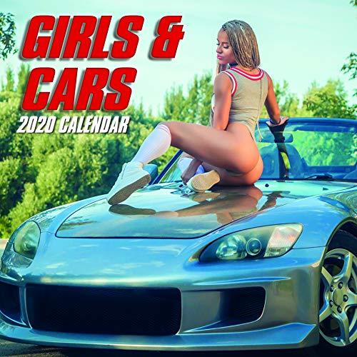 2020 Wandkalender - Girls and Cars Kalender, 30 x 30 Zentimeter Monatsansicht auf Englisch, 16-Monat, Sexy Ladies Theme, Enthalten 180 Anzeigen-Aufkleber