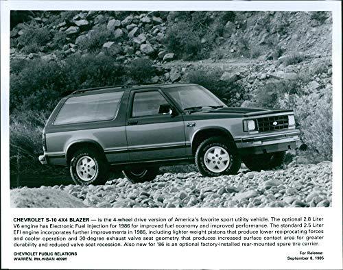 Chevrolet S-10 4x4 Blazer - Vintage Press Photo
