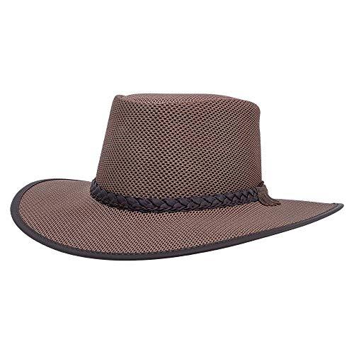 American Hat Makers Soaker Mesh Sun Hat for Men and Women — Brown, X-Large