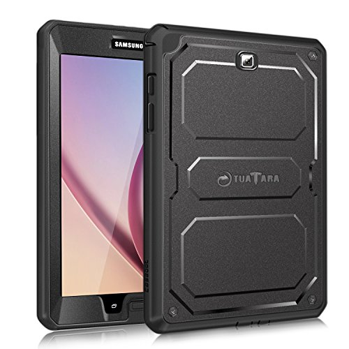 Fintie Shockproof Case for Samsung Galaxy Tab A 8.0 (Previous Model 2015), Tuatara Rugged Unibody Hybrid Full Protective Cover for Tab A 8.0 SM-T350/P350 2015(NOT Fit 2017/2018 Version), Black